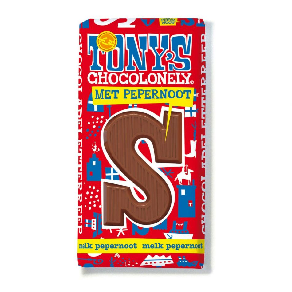 Tony's Chocolonely Letterreep Melk pepernoot
